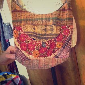 Tribal hippie gypsy  floral ethnic crossbody